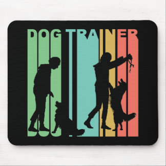 Dog Trainer Retro Mouse Pad