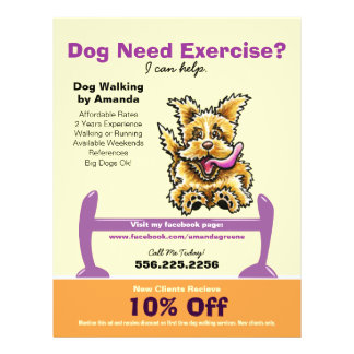Dog Trainer Training Active Terrier Coupon Ad Flyer