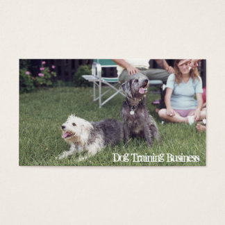 Dog Training, Obedience Trainer Doggy Day Care Business Card