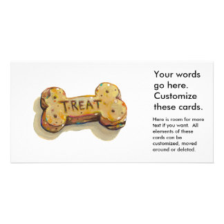 Dog treat cards for dogs parties businesses events personalized photo card