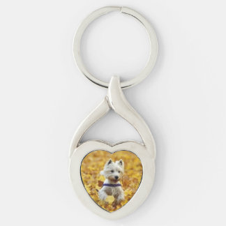 Dog Twisted Heart Key Chain