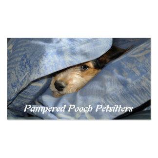 Dog under a pillow business card