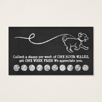 DOG WALK CHALK loyalty program (3dots) Business Card