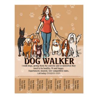 Dog Walker. Dog Walking. Advertising Template Flyer Design