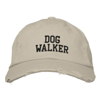 Dog Walker Embroidered Baseball Caps