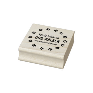 Dog Walker Pet Business Customized Wood Stamp