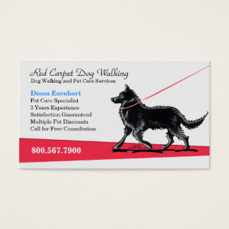 Dog Walker Pet Business Fancy Belgian Business Card