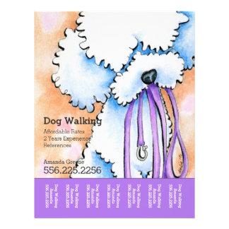 Dog Walker Poodle Purple Personalized Tear Sheet Full Color Flyer