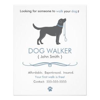 Dog Walker/Walking Business Flyer Template Small