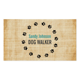 Dog Walker Walking Pet Sitting Services Business Business Card