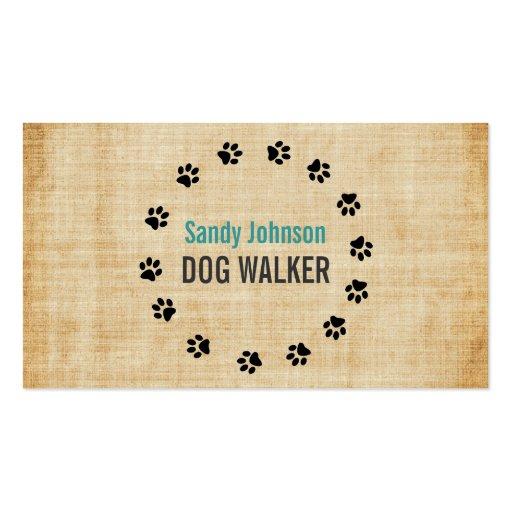 dog walker walking pet sitting services business business card zazzle. Black Bedroom Furniture Sets. Home Design Ideas