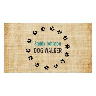 Dog Walker Walking Pet Sitting Services Business Pack Of Standard Business Cards