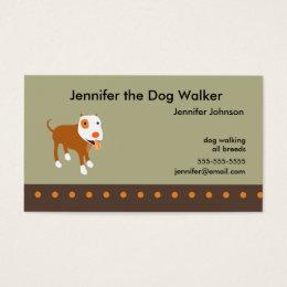 Professional dog walker business cards business card printing dog walkers business card colourmoves