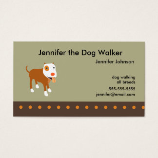 Dog Walker's Business Card