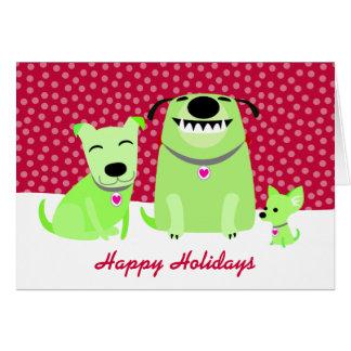 Dog Walker's Holiday Greetings Card
