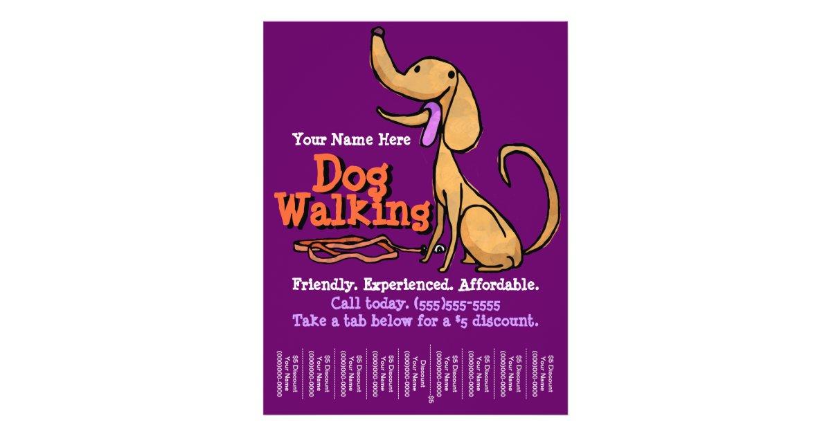 Dog Walking Advertising Flyer