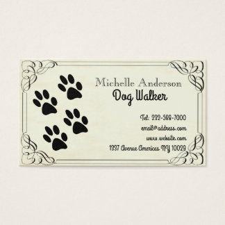 Dog walking and veterinary business card