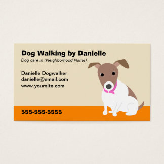Dog Walking Business Business Card