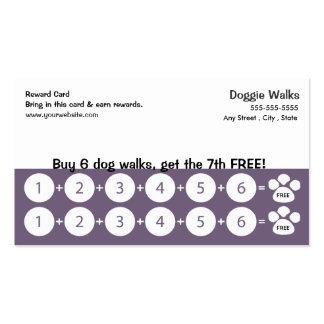 Dog Walking Business Card Loyalty Card