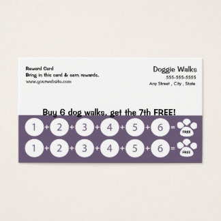 Dog Walking Business Card Loyalty Card