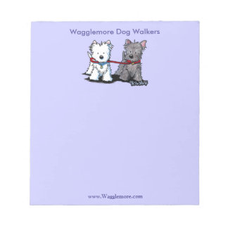 Dog Walking Business Notepad With Terriers