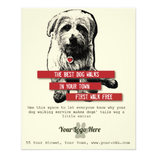 Dog Walking Flyer - Personalize All Text