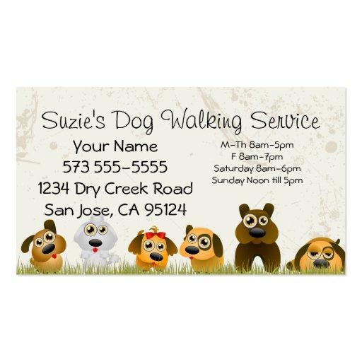 Zazzle Dog Walking Cards