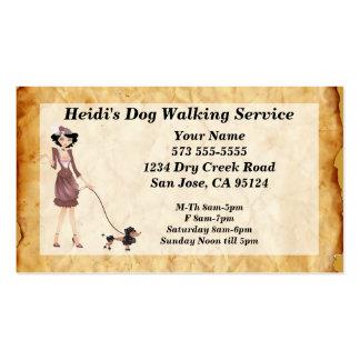 dog walking business cards 1 000 business card templates. Black Bedroom Furniture Sets. Home Design Ideas