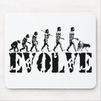 Dog Walking Walk Walker Evolution Art Mouse Pad