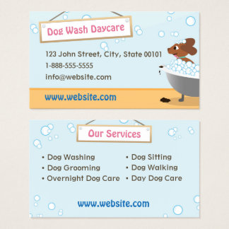 Dog Wash Daycare Business Card