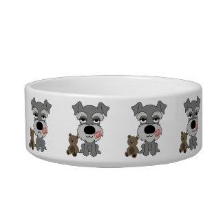 Dog Water and Food Bowl Schnauzer