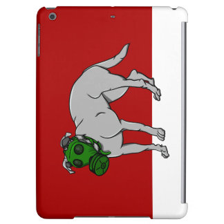 Dog Wearing A Canine Gas Mask iPad Air Case