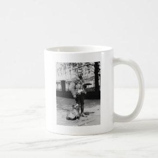Dog Wearing a Coat, 1920s Coffee Mugs