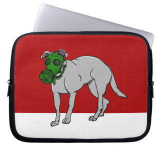 Dog Wearing A Gas Mask Laptop Sleeves