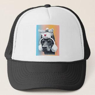 Dog wearing a  Reindeer Hat