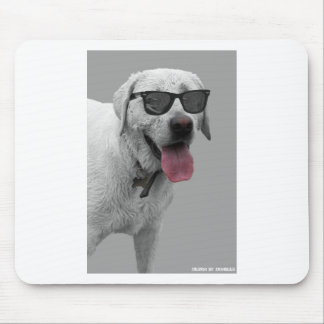 Dog wearing sunglasses mousepads