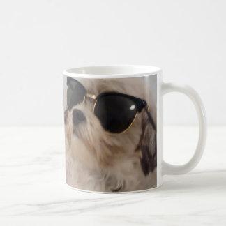 Dog Wearing Sunglasses - Philosophies of Riley Mug