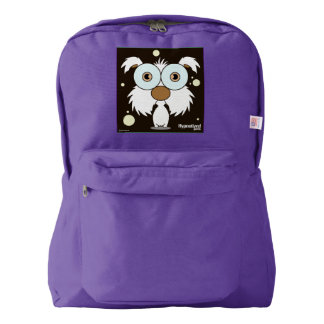 Dog(White) Backpack, Amethyst Backpack