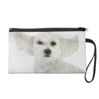 Dog winking wristlet clutches