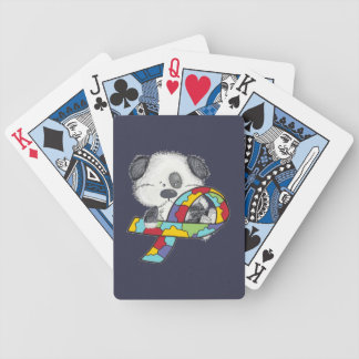 Dog With Autism Awareness Ribbon Bicycle Playing Cards