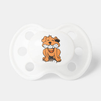 Dog with balls in the mouth pacifier
