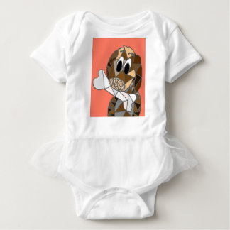 dog with bone baby bodysuit