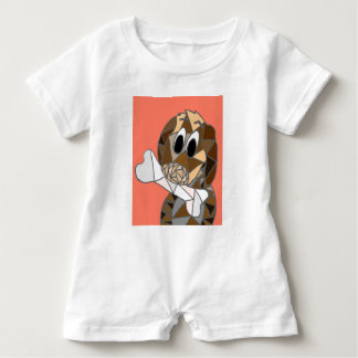 dog with bone baby romper