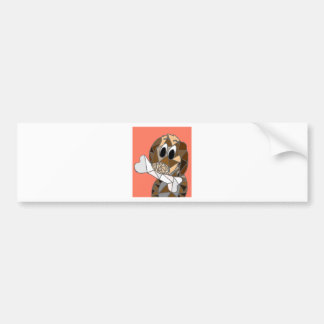 dog with bone bumper sticker