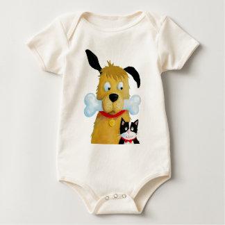 Dog with Bone & Cat baby Toddler Baby Bodysuit