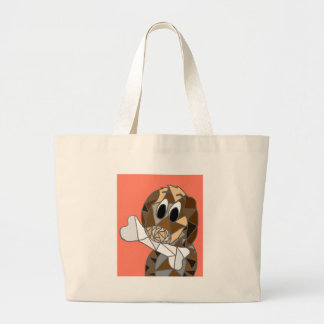 dog with bone large tote bag