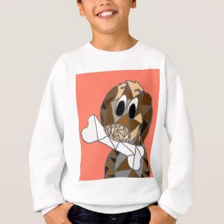 dog with bone sweatshirt
