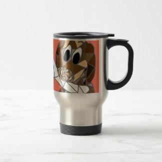 dog with bone travel mug