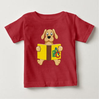 dog with book baby T-Shirt