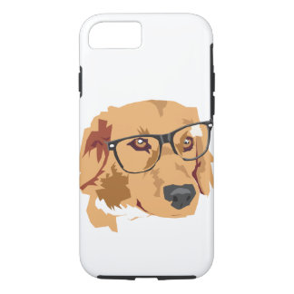Dog With Glasses Canvas Phone Case
